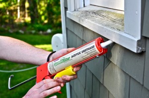 Air Sealing with Caulk Gun | Evergreen Home Performance | Maine