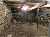 Basement Encapsulation Before | Evergreen Home Performance | Cushing Maine