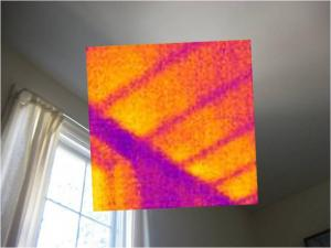 Infrared Analysis of Hot Ceiling | Evergreen Home Performance | Maine