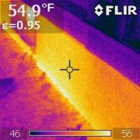 Infrared picture of foundation heat loss