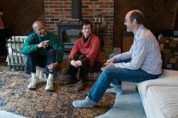 Evergreen Home Performance Energy Advisor meets with homeowners | Woolwich Maine