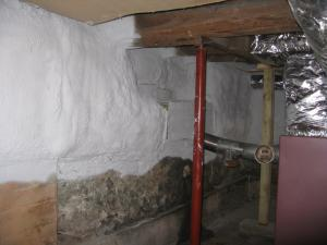 Basement Spray Foam Insulation | Evergreen Home Performance | Energy Efficiency Audits & Contracting | Maine
