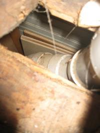 Air Leak Allows Heat Loss   Camden, Maine   Evergreen Home Performance