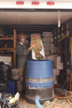 Loading Dense-Packed Cellulose | Evergreen Home Performance | Maine