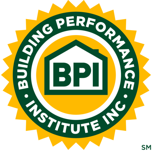 Building Performance Institute Certified Professional logo for Evergreen Home Performance