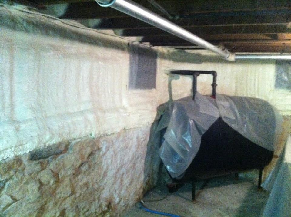 basement spray foam