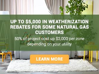 Many Maine gas utility customers are eligible for up to $5000 in home improvement rebates. Evergreen Home Performance can help. This is an image link to the page with more info.
