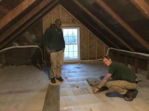 Attic insulation Evergreen team