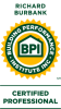 Building Performance Institute Certified professional logo for Evergreen Home Performance in Portland & Rockland, Maine